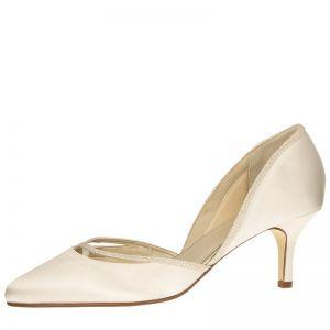 Rainbow Club Wedding Shoes Teddie Ivory Satin