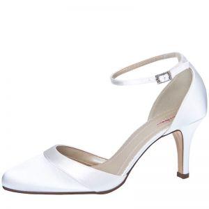 Rainbow Club Wedding shoe Amanda Pure White Satin