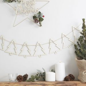 Wooden Tree Bunting | Rustic Christmas