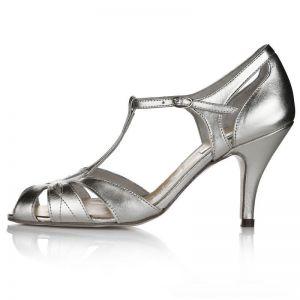 Rachel Simpson Wedding Shoes Ginger Silver