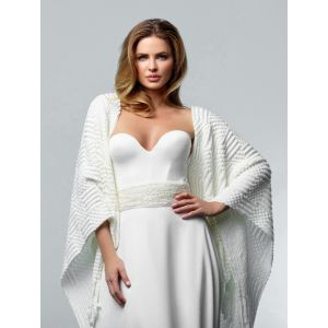 Poirier S162 Knitted Stole Ivory