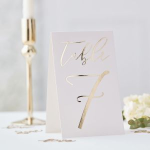 Ginger Ray GO-109 Gold Wedding Table Card Numbers
