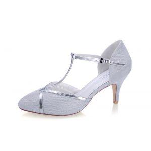 G. Westerleigh Zara Silver Wedding Shoes