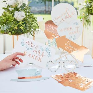 Ginger Ray BR-340 Botanical Wedding Photobooth Props