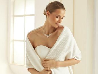 Bianco Evento E308 Bridal Stole